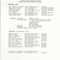 Directory of Directors and Officers for the Dallas Society for Crippled Children