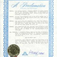 Proclamation by Richard Greene, Mayor of Arlington, Texas