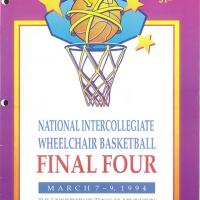 Program of the 1994 Final Four National Intercollegiate Wheelchair Basketball Tournament