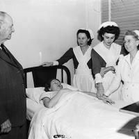 nursing school superintendents, students, and patient