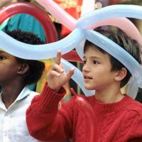100 children who use regional programs for the deaf visited Tandy Center Christmas Party