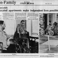 Article on Arlington apartments designed for handicapped