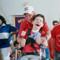 Daryl Zimmerman and Robert Mattox share a laugh