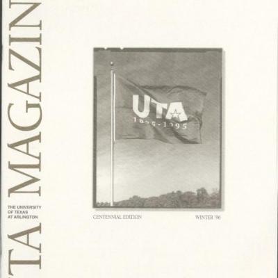 cover of UTA Magazine 1996 centennial edition showing UTA flag