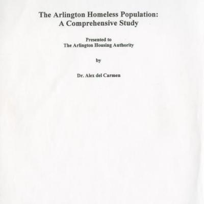 Arlington Housing Authority (Tex )   Texas Disability History Collection