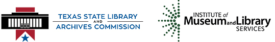 logos for Texas State Library Commission and Institute of Museum and Library Services