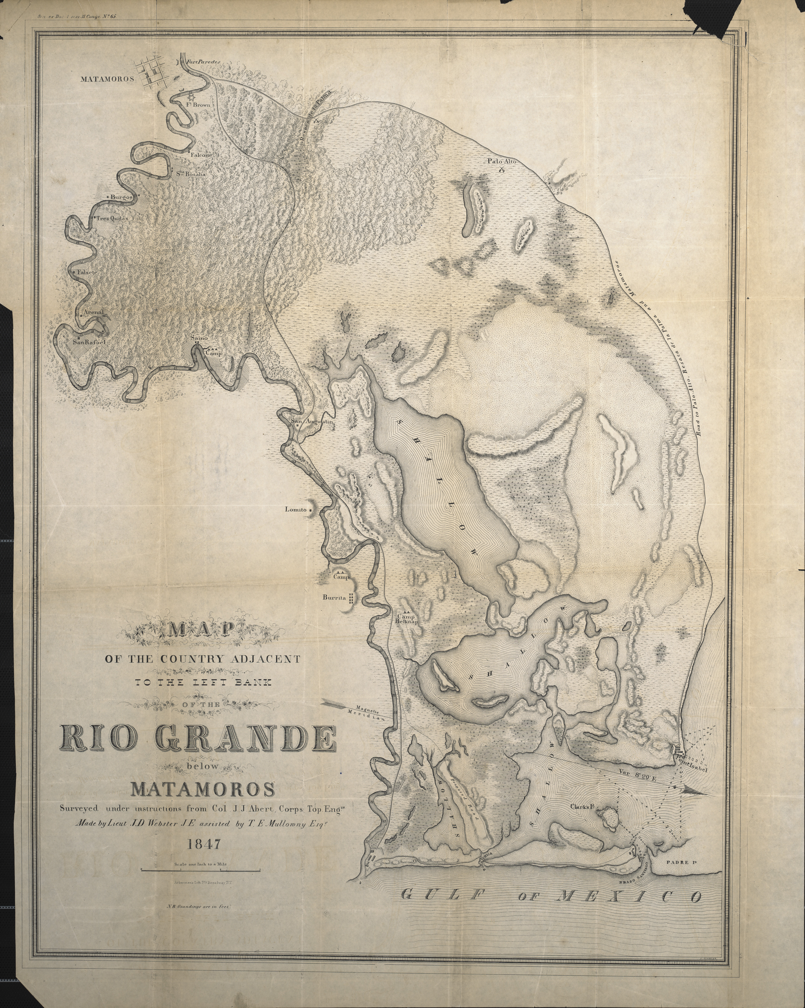 Map Of The Country Adjacent To The Left Bank Of The Rio Grande Below Matamoros
