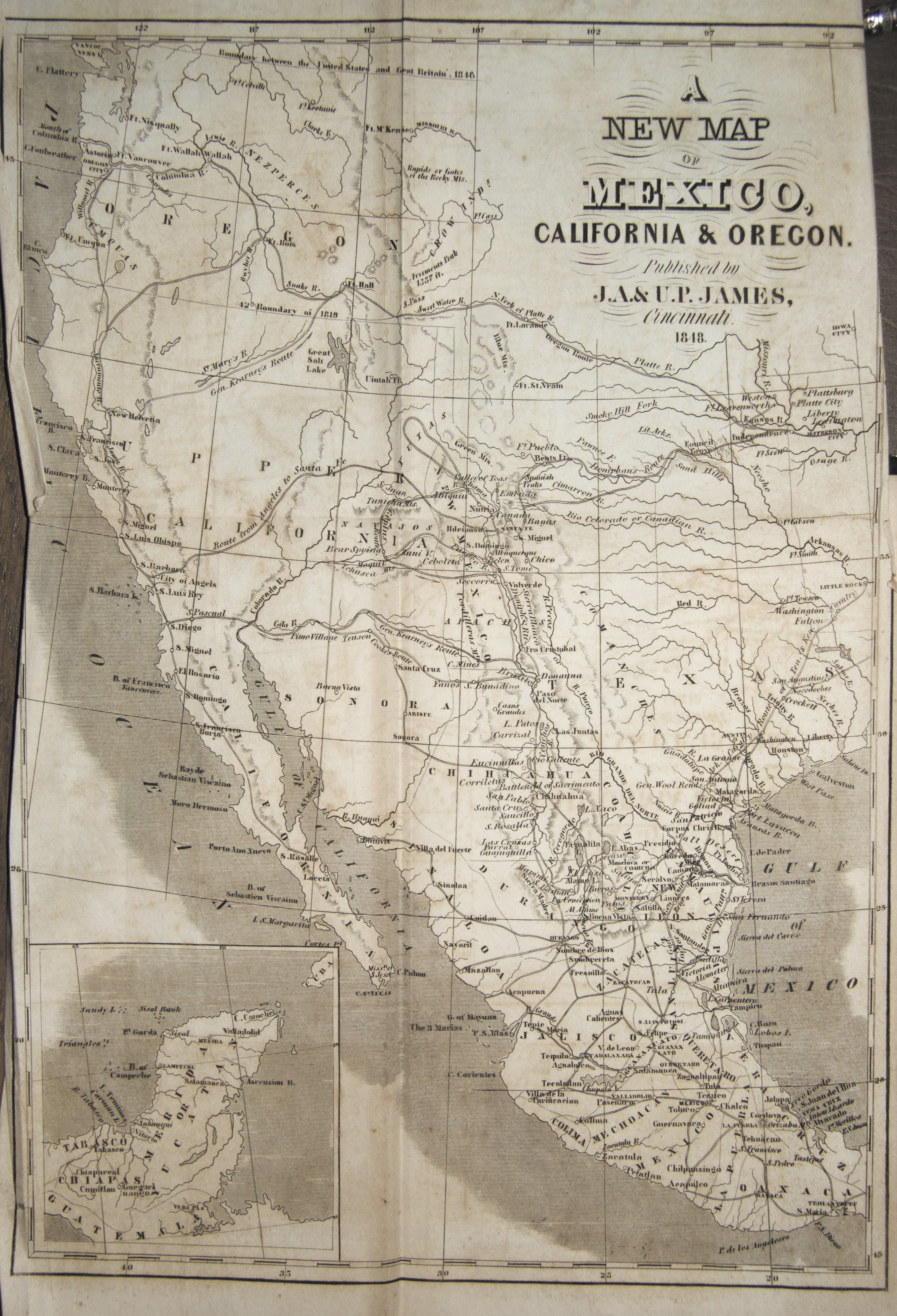 Maps A New Map Of Mexico California Oregon Published By J A