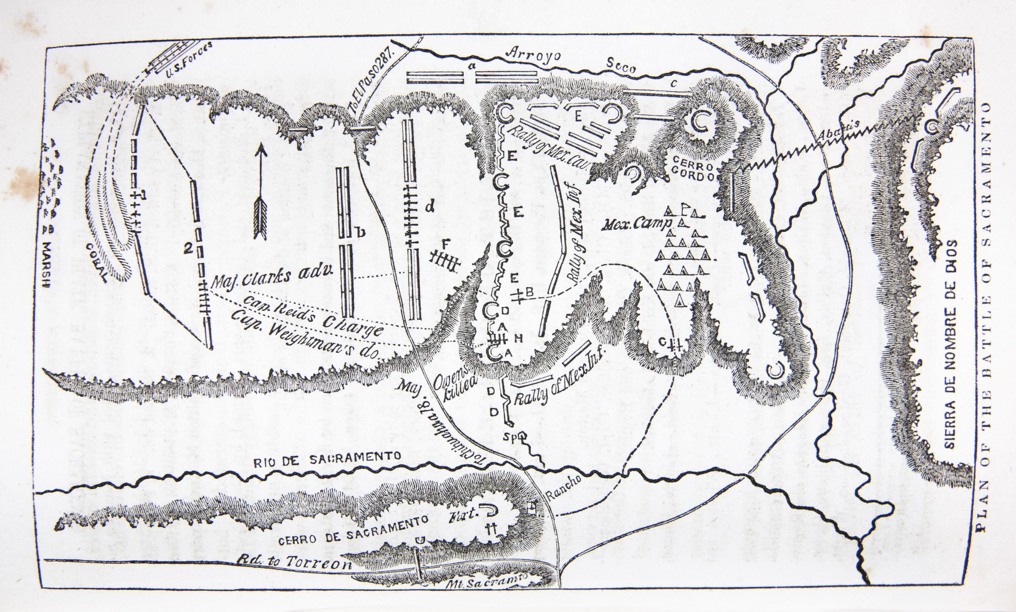 Plan Of The Battle Of Sacramento